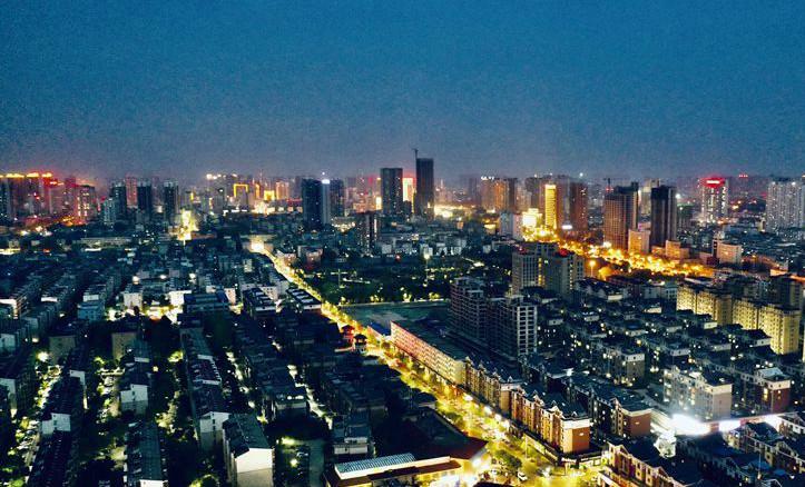 平顶山:迷人的夜景