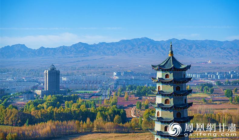 永昌县城绿意盎然 金昌市文化广电和旅游局供图