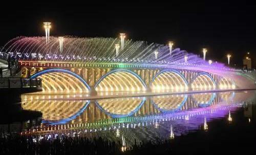"""你心心念念的南湖大桥音乐喷泉""""五一""""回归 """" width="""