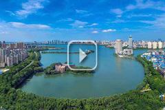 航拍南昌青山湖区绿色生态风光