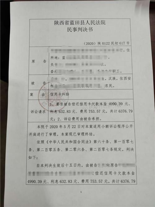 蓝田法院发出首份小额诉讼表花样