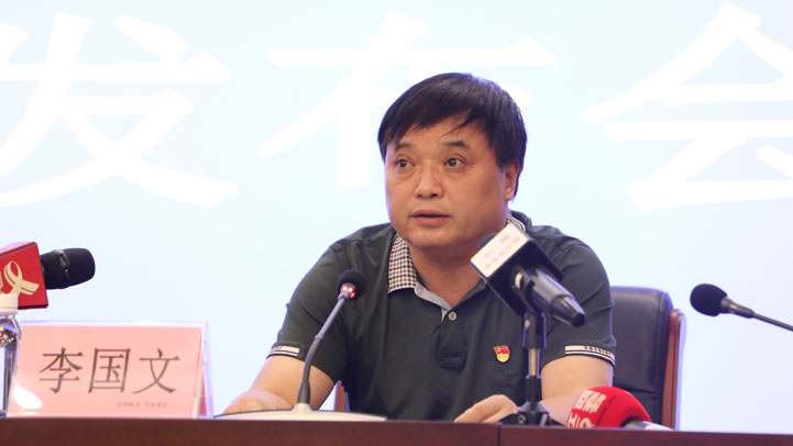 省防指监测调度组副组长、省水文局副局长李国文(图片由 李梦丽摄)