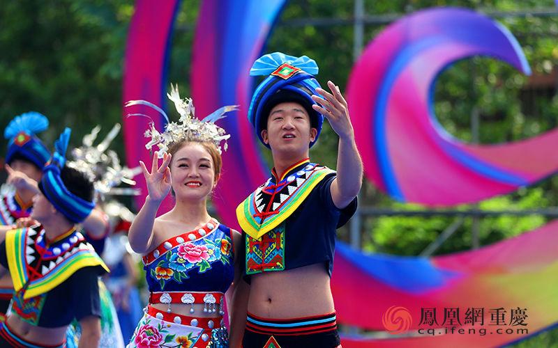 中国乌江苗族踩花山节