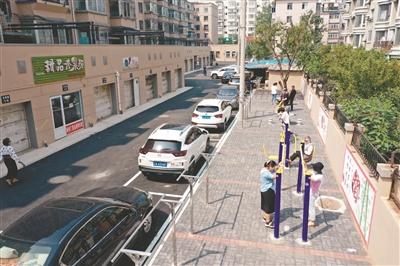 老旧小区改造,让凌空街道艳粉社区光卫南小区环境大提升。