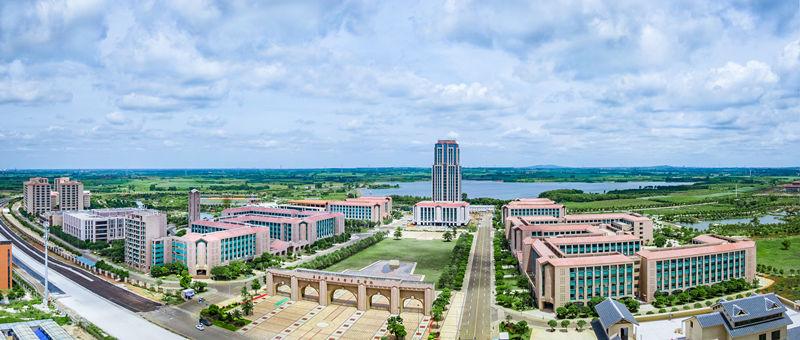 广东海洋大学寸金学院新湖校区实景航拍图