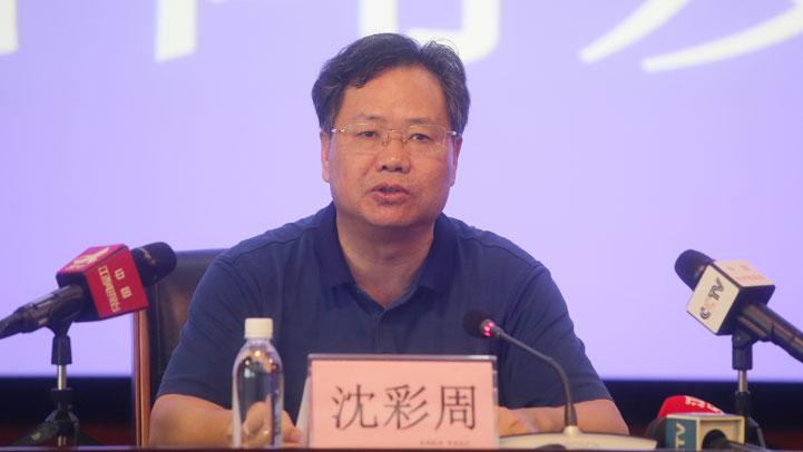 省林业局灾害防治处处长沈彩周(图片由 龚梓琦摄)