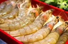 方欣海鮮市場一個批次進口凍白蝦外包裝檢測呈陽性