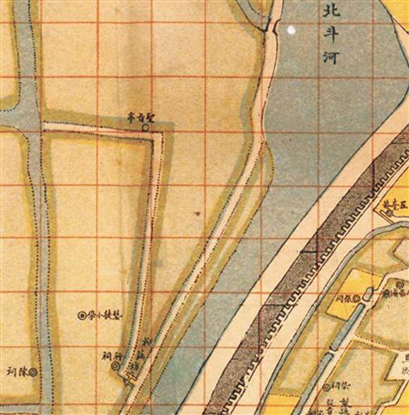 1914年《最新宁波城厢图》里的柳庄坊和圣旨亭