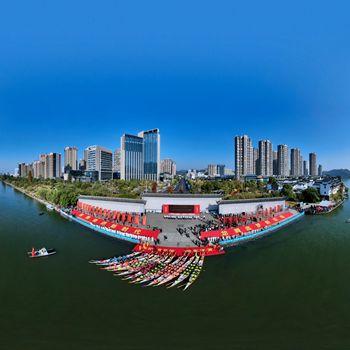 黄山:新安江上赛龙舟