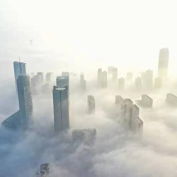 """合肥:云海漫城 """"雾""""入仙境"""