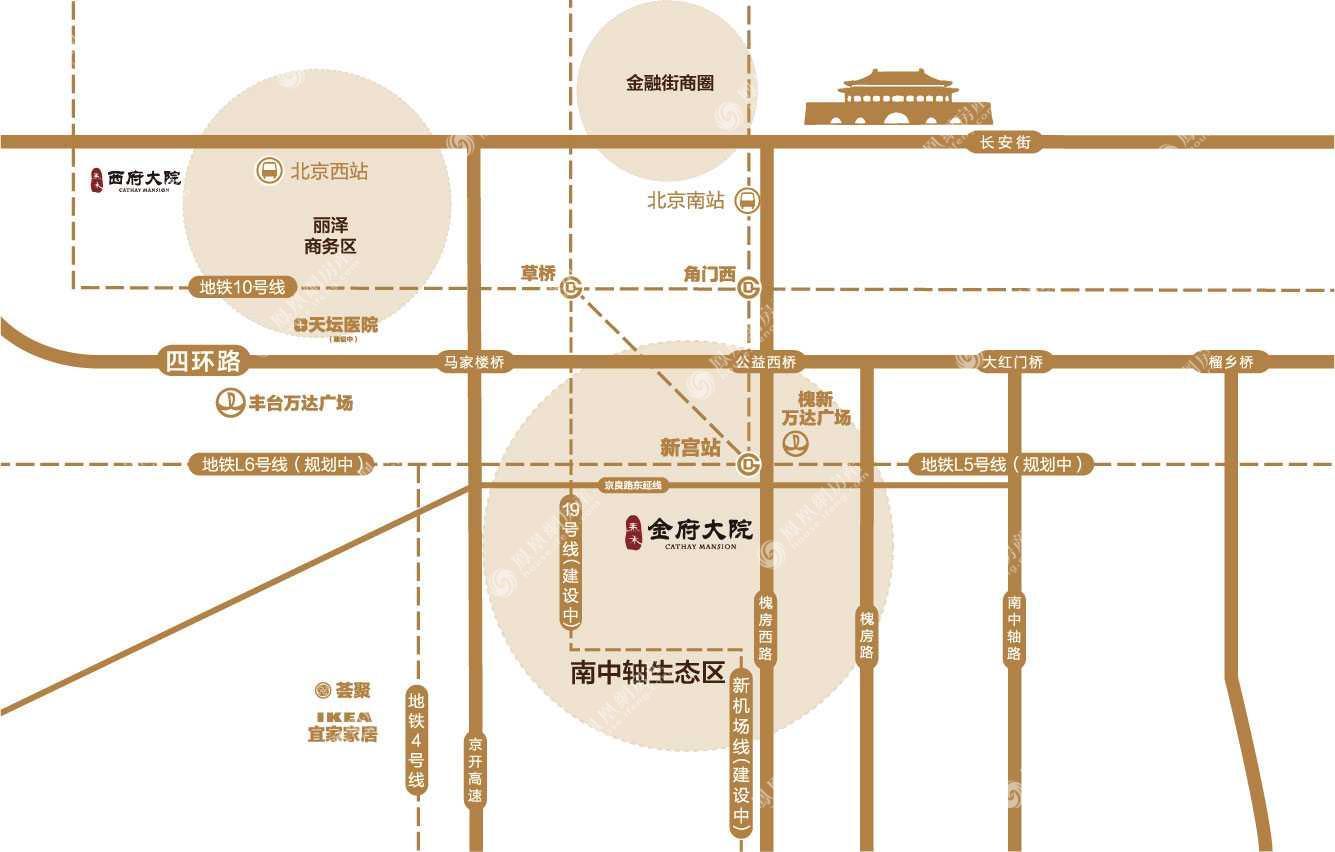泰禾·金府大院规划图2