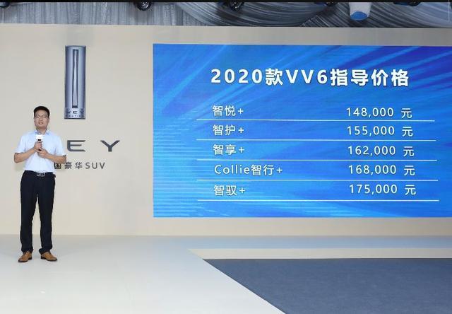 2020款WEY VV6能否成合资品牌的对比标杆车型