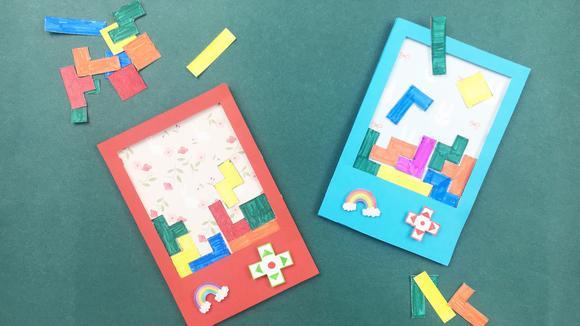 手工制作的游戏机,还可以玩俄罗斯方块,很简单就能做出来