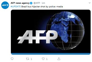 巴西劫持公交车歹徒已被击毙,此