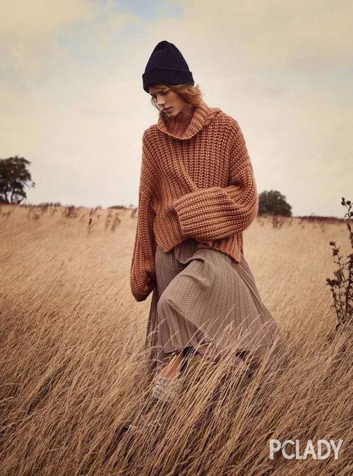 半裙 毛衣配半裙才是秋冬最慵懒的打开方式,时髦炸了