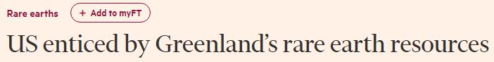 特朗普为啥买格陵兰岛?可能看上了那儿的稀土