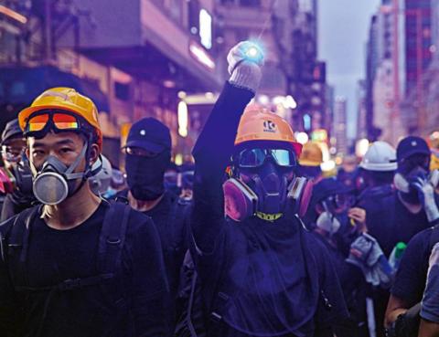 射�_香港暴徒举\