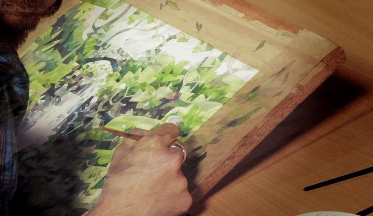水彩艺术   诠释不一样的山水风景画