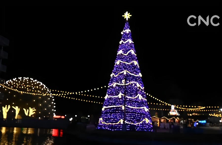 丰富多彩的加拿大极光冬季节