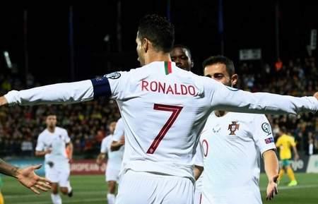 C罗演出除夜四喜B席两传,葡萄牙客场5-1坐陶宛