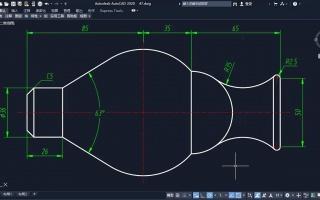 cad平面图练习 对称图形的画法 主要用到镜像命令 以及倒角工具