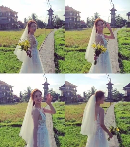 """""""巴厘岛的新娘""""全慧彬公开结婚感言""""会成为恩爱的夫妻"""""""