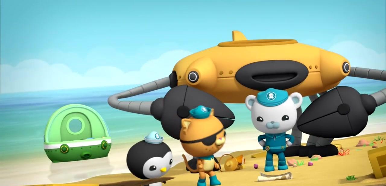 章鱼小鲨鱼:纵队船无人应答,海底心急,纵队小队长出发海底渗透压图片