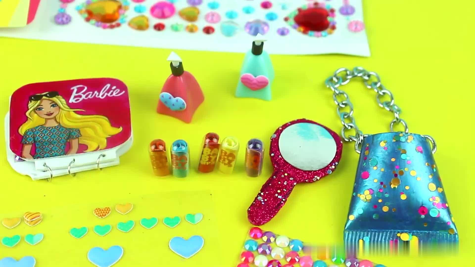 芭比娃娃手工,很酷的芭比娃娃迷你玩具模型,一起动手做