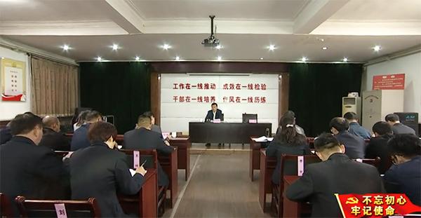 齐河县委书记姜凌刚为街村支部书记上了