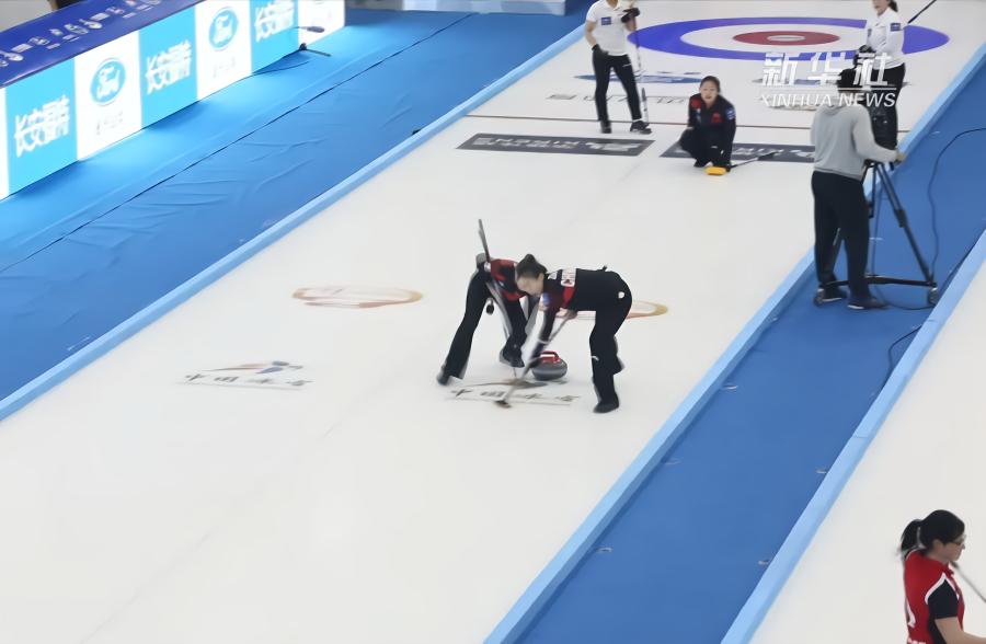 青海国际冰壶精英赛半决赛:中国女队惜败于韩国女队