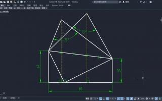 cad入门教程这道题由两个三角形需要用到构成v两个日本的平面设计教材图片