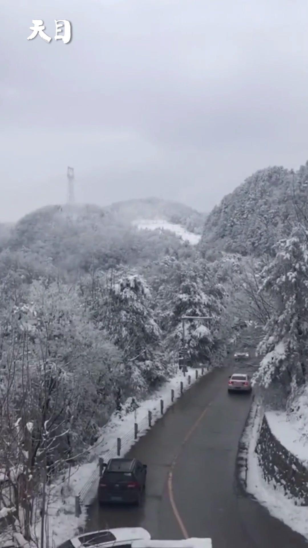 银装素裹!四川广元大雪 积雪最厚达6厘米