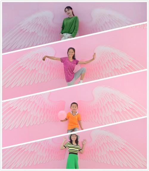吸睛网红翅膀墙引游客打卡拍照
