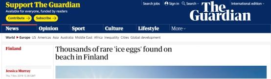 芬兰发现稀有冰蛋是怎么回事?终于真相了,原来是这样!