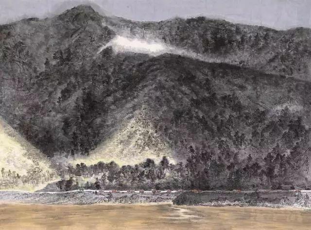 第十三届全国美展,中国山水画作品欣赏,第一辑56幅图片