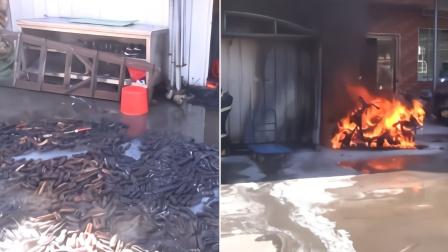 福建永春一厨师用喷火枪烧海参 结果厨房遭了殃
