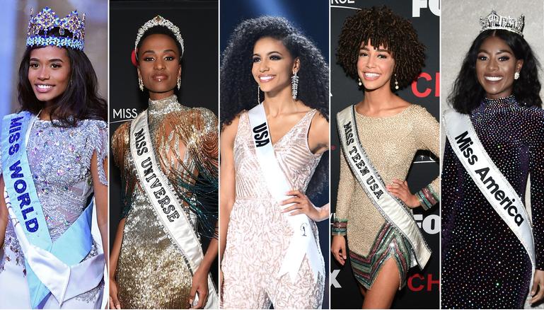 世界选美:世界五大顶尖选美比赛冠军首次都是黑人!