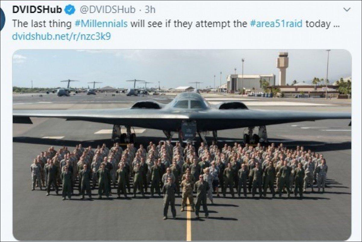 """51军事网 年轻人敢硬闯""""51区"""",最后看到的将是隐形轰炸机?这篇推文删了"""