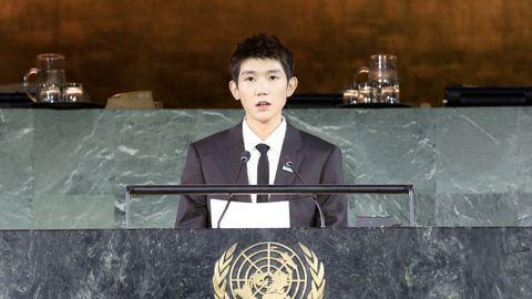 中文 王源联合国大会中文演讲 携手共创儿童的未来