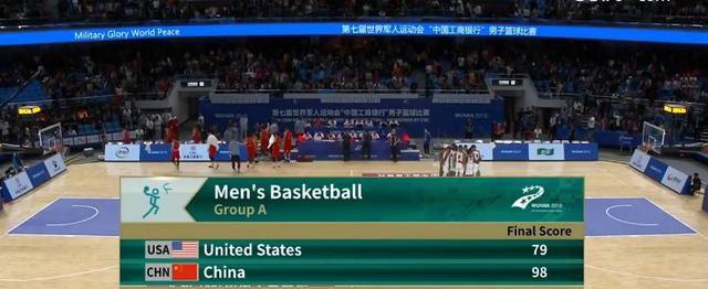 军运会-王哲林27+10 田宇翔15分 中国男篮大胜美国