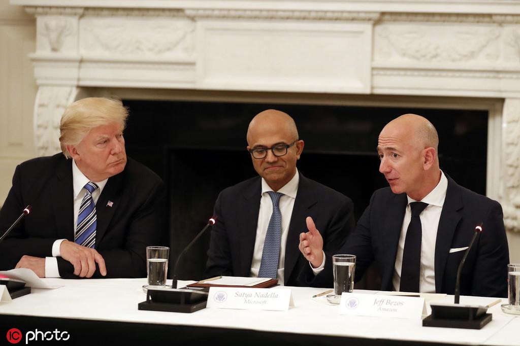 """微软击败亚马逊拿下百亿美元合同,将为五角大楼打造""""战云"""""""