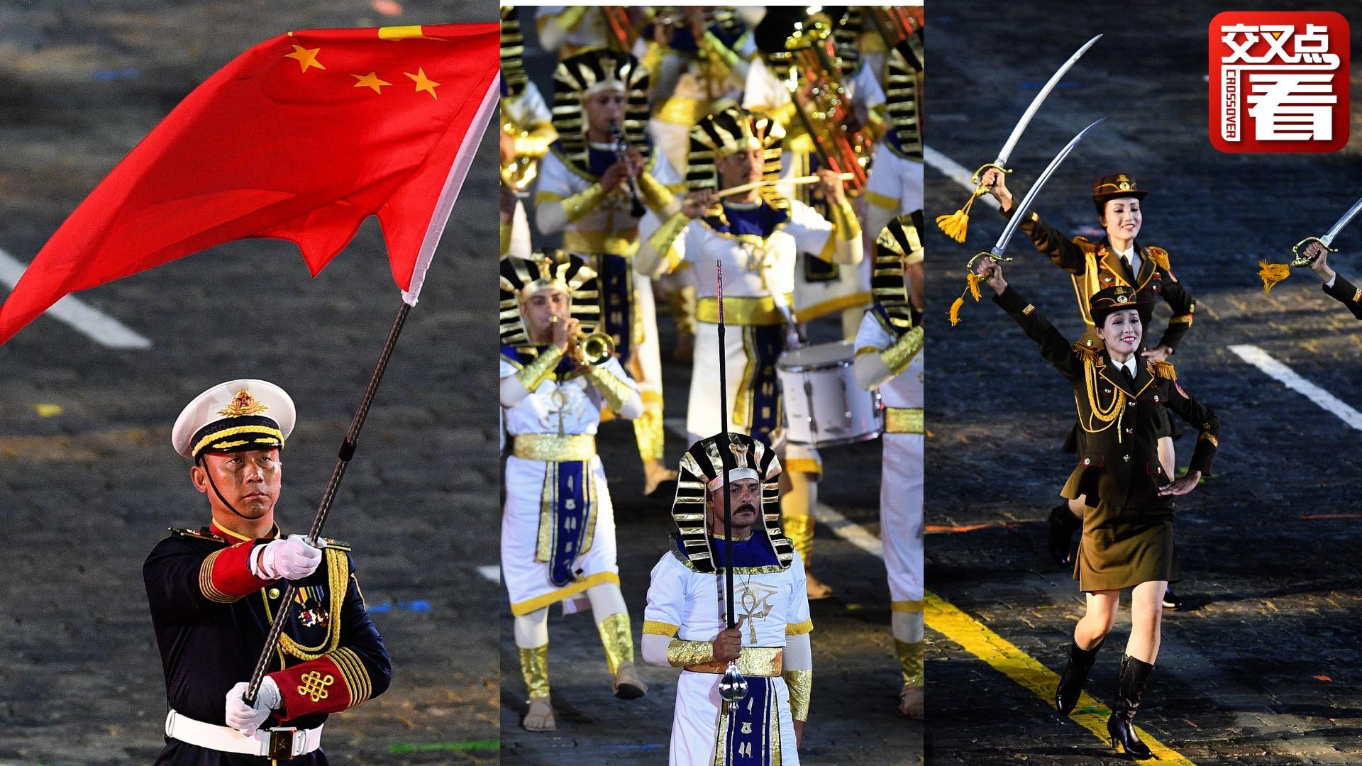 俄罗斯国际军乐节奏响红场 中国解放军惊艳亮相