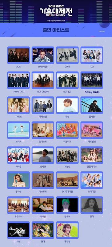 """歌谣大祭典 """"MBC歌谣大祭典""""NU'EST-SEVENTEEN-GOT7等31组华丽阵容公开"""