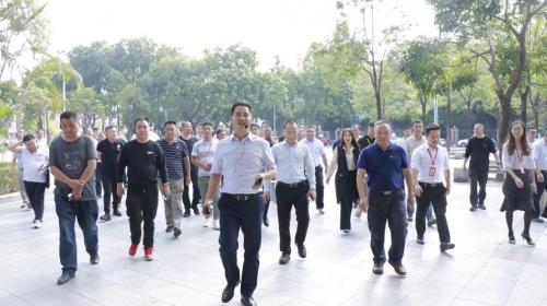 新疆图木舒克市领导干部莅临昌和盛大新媒体园区参观指导