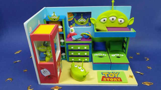 diy迷你娃娃屋,造型奇特,色彩艷麗的臥室