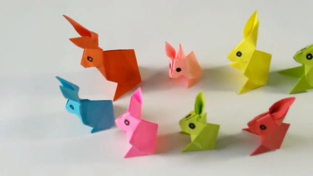 折纸ag游戏直营网|平台,兔子是怎么折出来的,手工折纸视频教程