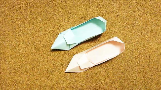 创意折纸diy,教你用纸制作一双鞋子