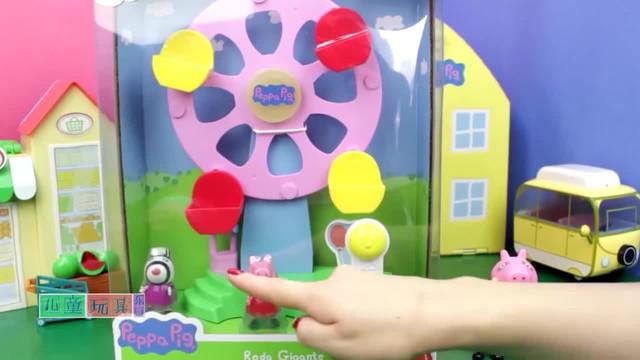 小猪佩奇木质摩天轮玩具,佩奇儿童玩具故事