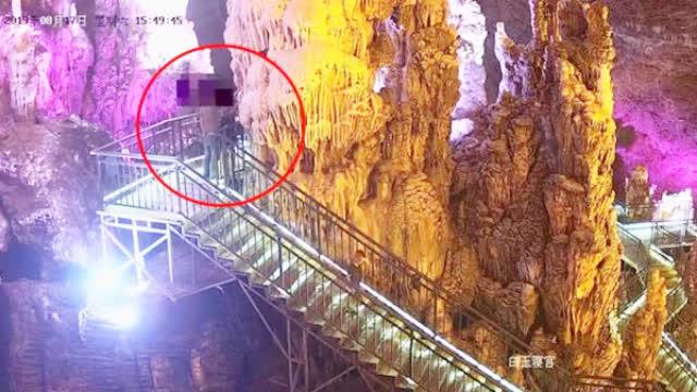 游客掰断景区亿万年前钟乳石,道歉赔偿