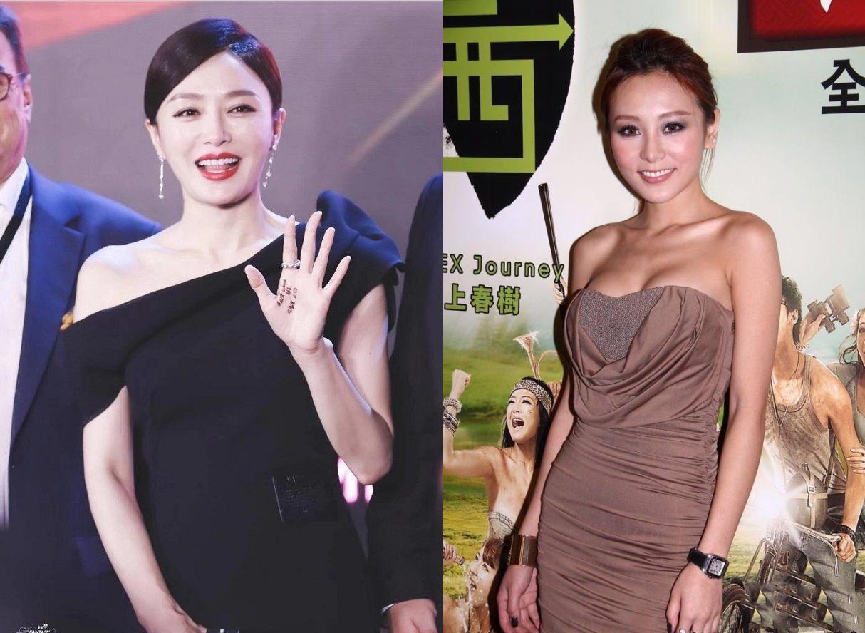 秦岚与香港性感艳星同框,女神素颜老态尽显,气质略胜一筹